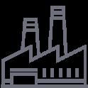 ikona fabryki produkcji regałów magazynowych