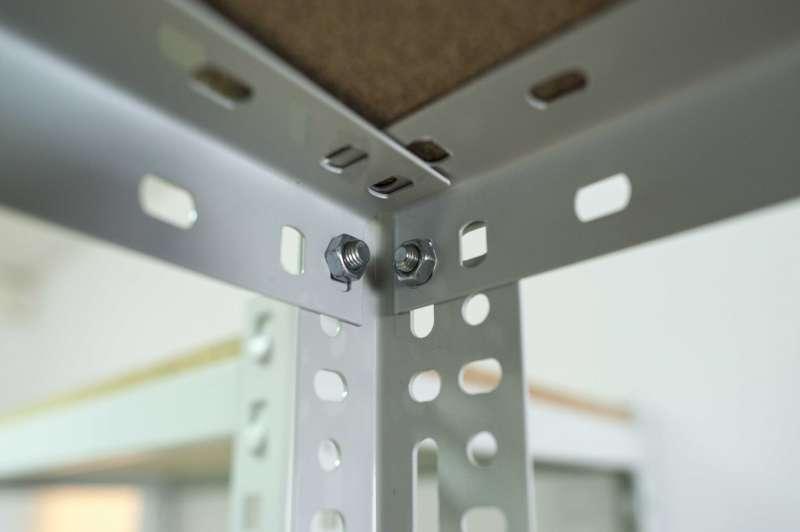 Regał magazynowy skręcany RPC 150 śruby łączenie montaż