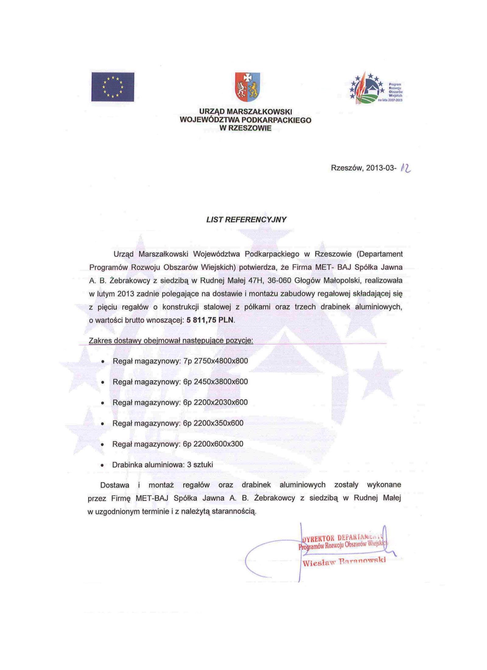 ReferencjeUrząd Marszałkowski Województwa Podkarpackiego w Rzeszowie