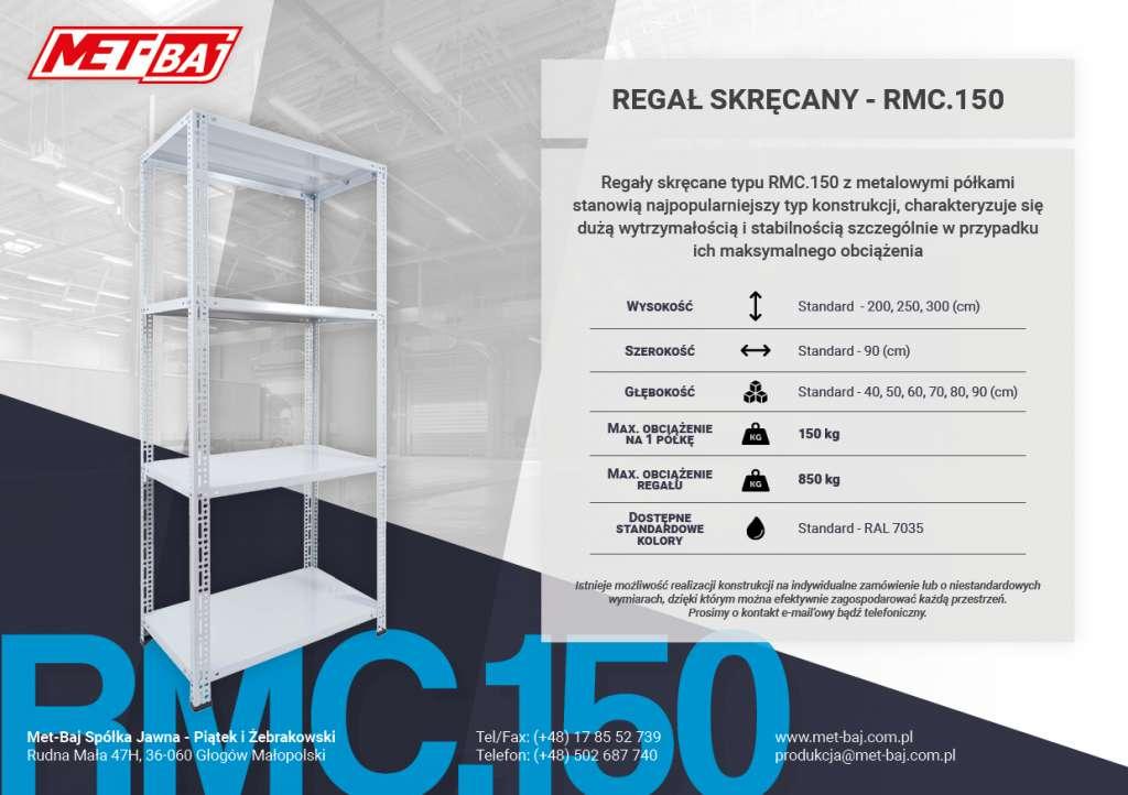 skręcany regał magazynowy RMC 150